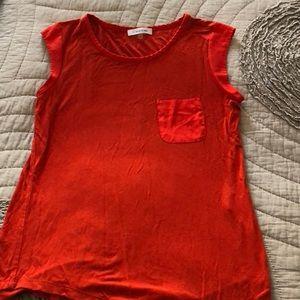 Calvin Klein Pocket Tank - Red XS